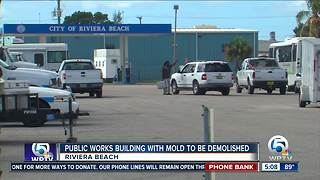 Riviera Beach to demolish Public Works building after mold is discovered by safety inspectors - Video