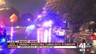 Two shot, one killed, standoff underway - Video