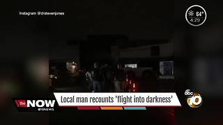 Local man recounts 'flight into darkness' - Video