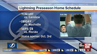 Lightning hockey returns Tuesday with first preseason game