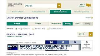 Nation's school report card ranks Detroit schools as worst in the nation - Video