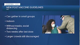 CDC says groups of fully-vaccinated people can gather without masks, still recommends against travel
