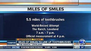 Toothbrush record attempt in Loveland