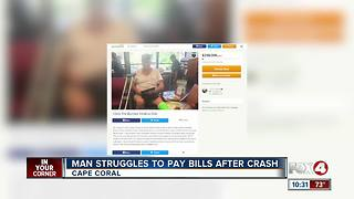 Man Struggles to Pay Bills After Crash - Video