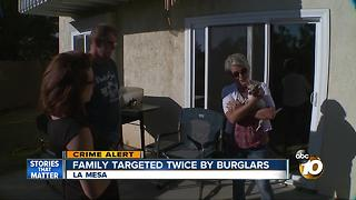 Family targeted twice by burglars - Video