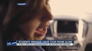 Students create anti-distracted driving message - Video