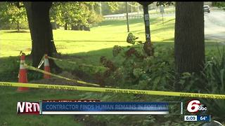 Utility worker finds human remains in Fort Wayne - Video