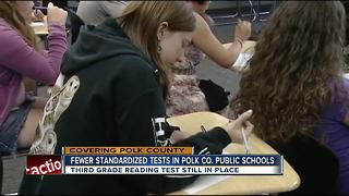 Polk County Public Schools slash standardized testing - Video