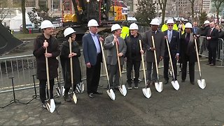 Bedrock breaks ground on Monroe Blocks project in downtown Detroit