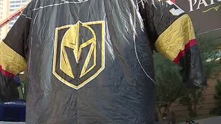 Vegas Golden Knights play first game at home - Video