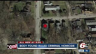 Homicide investigation underway after woman found dead on Indy's west side - Video