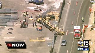 Worker missing after crane collapse near Phoenix Sky Harbor Airport - Video