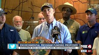 Gov. Scott proposes spending $1.7 billion for environmental protection - Video