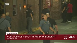 Police: Officer in emergency surgery