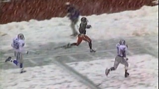 From The Vault: College football in snowstorm - Video