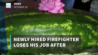 Newly Hired Firefighter Loses His Job After Controversial Gift To Firehouse - Video