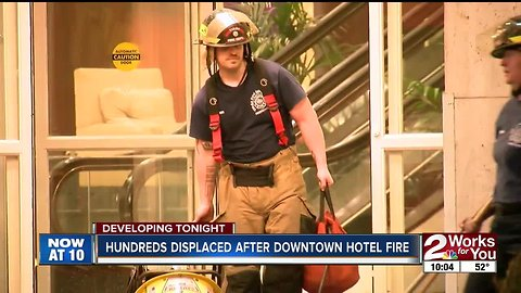 Guests rebooked after Downtown Tulsa hotel fire