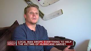 Man drops everything to go to Texas to help with Harvey relief efforts - Video