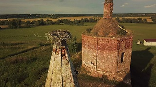 Drone footage captures abandoned Russian church - Video