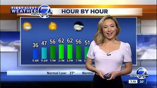 Mostly sunny St. Patrick's Day in Denver. Storm approaching Colorado on Sunday - Video