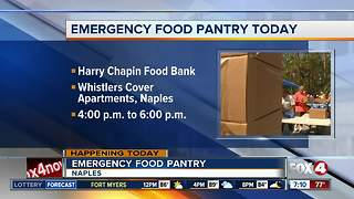 Harry Chapin to hold emergency food pantry - Video