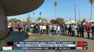 Free Thanksgiving meals offered throughout the day to the community - Video