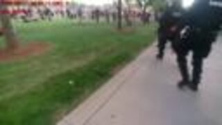Aurora police body cam footage show portions of Saturday protest