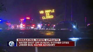Water shut off in Novi; 11 other cities under Boil Watet Advisory - Video