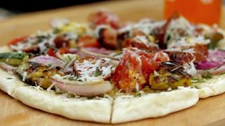 Grilled Vegetable and Sausage Pizza - Video