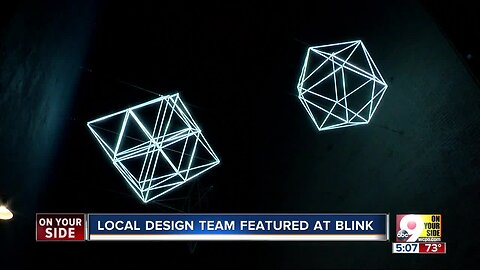 Geometric, suspended lights will stay in Downtown after BLINK