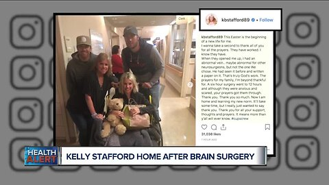 Ask Dr. Nandi: Kelly Stafford, wife of Lions QB, returns home after 12 hours of brain surgery