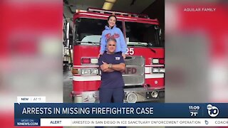 Two arrested in missing firefighter case