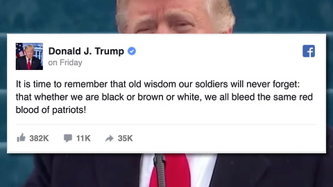 Trump's First FB Post As President Goes Viral