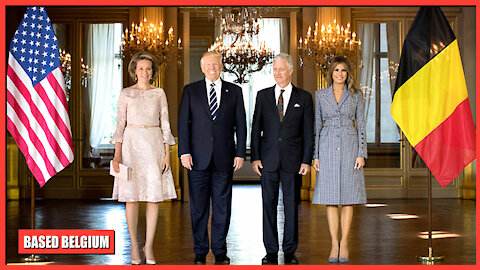King Philip of the Belgians receives President Donald Trump of the USA at the Belgian Royal Palace