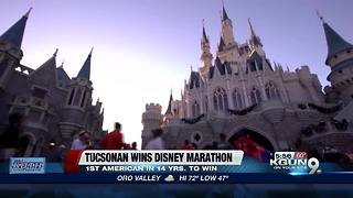 Tucsonan wins Walt Disney World marathon - Video
