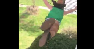 Guy Jumps From Roof Into Tree Because Why the Heck Not? - Video