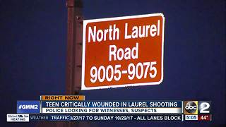 Laurel 14-year-old in critical condition after shooting