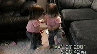 """Twin Toddler Girls Dancing Together: Cuteness Overload"""