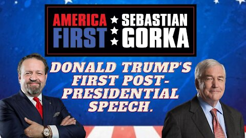Donald Trump's first post-presidential speech. Conrad Black with Sebastian Gorka on AMERICA First