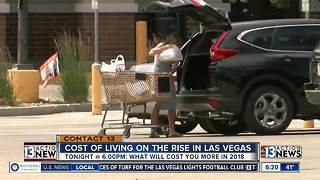 Cost of living on the rise in 2018 preview - Video