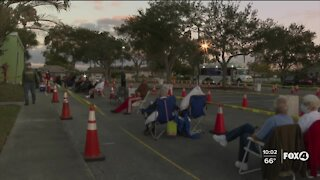 People camp overnight in Lee County for COVID-19 vaccine
