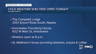 Cold weather shelters open
