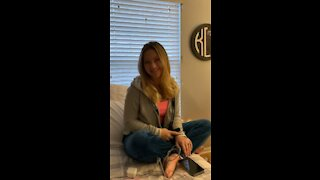Teen girl sings old Classic Dream a little Dream for Her Mom