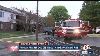 92-year-old woman, dog killed in apartment fire on Indianapolis' south side - Video