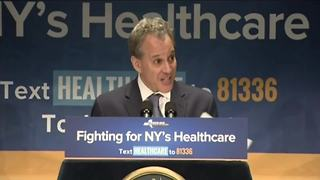 NY Attorney General says he'll sue over GOP health care bill (Raw) - Video