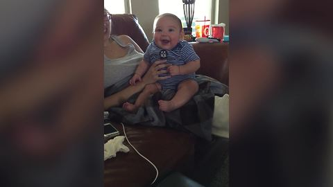 Dad Pretends To Be Batman, Baby Laughs Uncontrollably