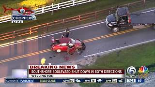 Crash in Wellington on South Shore Boulevard - Video