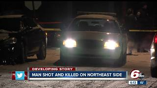 Man found dead in street on Indianapolis' northeast side - Video