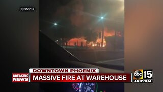Fire ignites in storage yard of vacant Phoenix warehouse