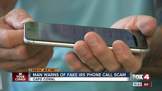Man Recieved Fake IRS Call Demanding money - Video